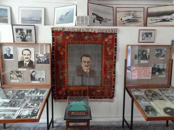 Carpet with an image of Anastas Mikoyan the most important Armenian politicians during the Soviet era