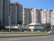 Residential buildings and a shop on Masherov Avenue, Minsk