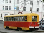 Riga build RVZ-6M2 tram seen Gorky Park in Minsk Belarus