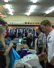 Buying a Belarus Sport Suit at the Souvenir Lavka store