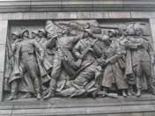 Bronze relief on the Minsk Victory column, The Soviet Army