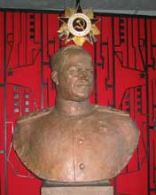 Bust of Marshal Zhukov in the Museum of the Great Patriotic War
