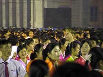 National day dancing on Kim Il Sung Square in Pyongyang