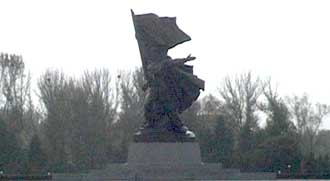 Socialist sculpture at the monument to the victorious fatherland