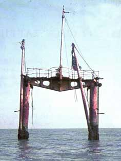 The cranes of the Russian OK 18 stayed above the water until 1998