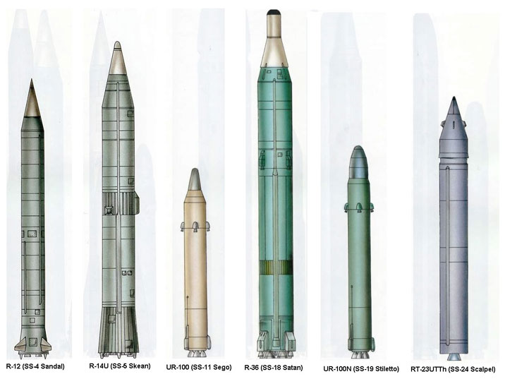 ICBM models that were depployed at Pervomaysk (R-14U, UR-100, UR-100N, RT23UTTH) or currently on display (R-12, R-36)