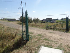 The inner perimeter high tension electric fence area will instantly kill an intruder who touches it
