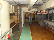 The engineering facility is build 4 meters under ground and provides electricity, water and oxygen to the command center