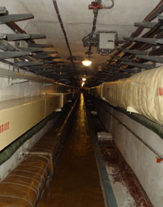 Engineering tunnel with that supplies electricity, water and oxygen to the Command Center