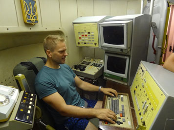 The launch console that controls ten ICBM missile silos of the 43rd Rocket Army in the Pervomaysk area