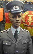 Artillery Captain of the NVA (East German Peoples Army) in parade tunic, indentified by the 3 star shoulder patch