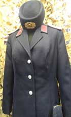 Female parade tunic for a Major of the East German Army, Collar Tabs not identified