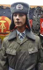 Camouflage field uniform of a Sub Officer of the NVA wearing a winter hat or Ushanka