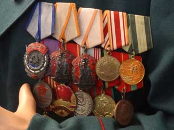 Soviet medals including the Order of the Red Banner of Labor, two Orders of the Badge of Honor and a Chinese medal