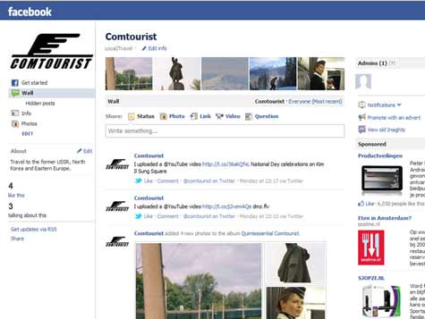 Like Comtourist on Facebook so your friends can see our fan page and visit Comtourist as well