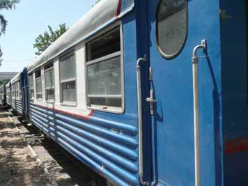 Mest30 railway car railway carriages used in Uzbekistan by the Soviet railways