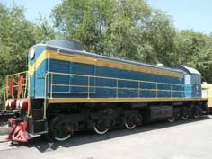 The TEM2 Diesel locomotive is a Soviet copy of the American ALCO RSD-1 produced by the American Locomotive Company