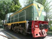 TGM3-1156 diesel locomotive, built by the Russian Lyudinovsky Diesel Locomotive Plant in 1956