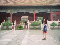 Ancient Chinese Ming dynasty Changing tomb's Ling'en Gate