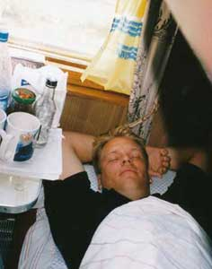 Beds in Russian trains are comfortable and large enough