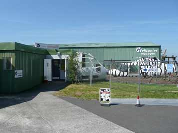 Entrance of the UK Helicopter museum near Weston-super-Mare