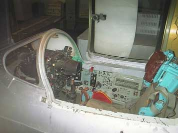 The cockpit of the Mig-21 simulator at Wings of Liberation in Best